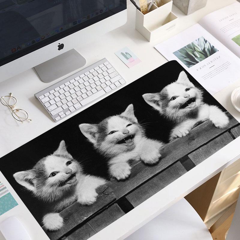Коврик для мыши Kawaii, коврик для мыши в виде милых кошек, животных, игровой коврик для мыши, коврик для мыши ноутбука, нескользящий коврик для мыши, милый коврик