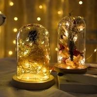 LED 1m 2m 3m 5m Fil De Cuivre Batterie Coffret Guirlande Lumineuse Fee Fete Danniversaire Decoration Chaine Lumiere Lampes A La Maison de Lumiere De Decoration De Mariage