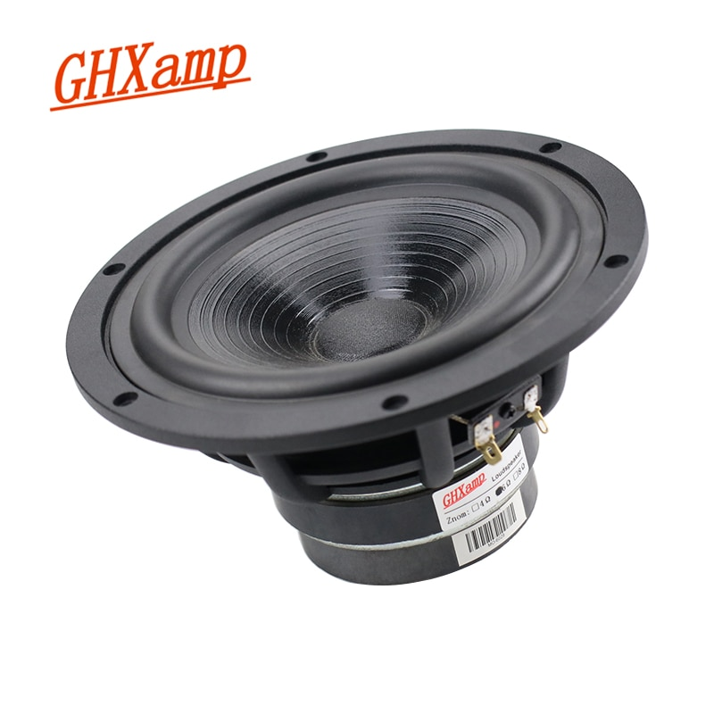 GHXAMP 6.5 بوصة المدى المتوسط باس المتكلم مكبر الصوت 6ohm طويلة السكتة الدماغية ايفي جمهور الجودة باس المتحدثين إطار الألمنيوم 40-80W 1 قطعة