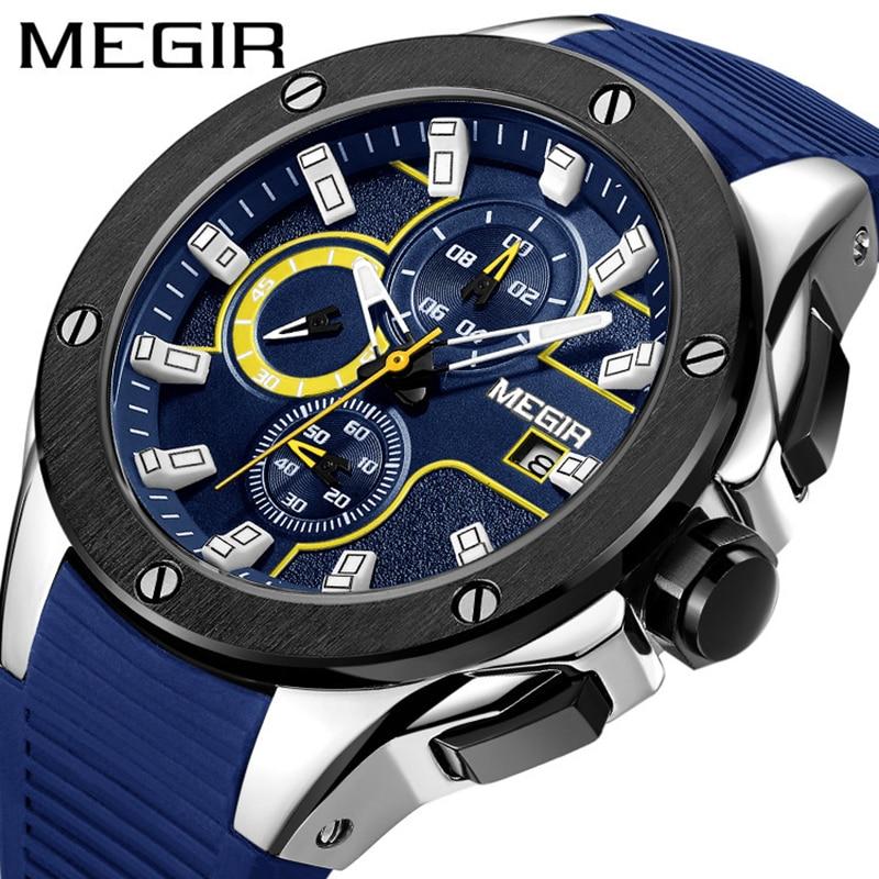 Reloj para hombre reloj moda europea y americana reloj de cuarzo multifuncional deportivo resistente al agua reloj redondo 2020new
