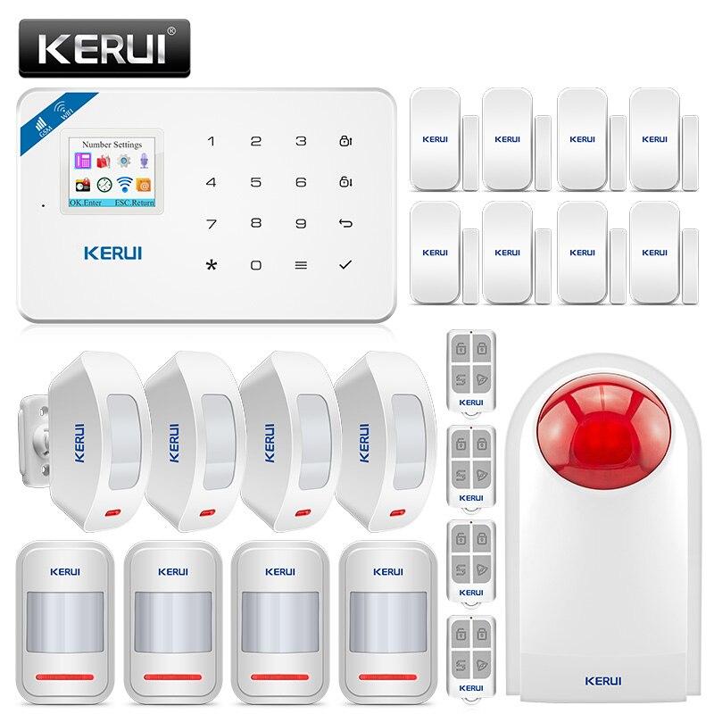 Corina W18 Draadloze Gsm Wifi Alarmsysteem Home Security Inbraakalarm Kit Oplaadbare Center Panel Android Iphone Ios App Controle