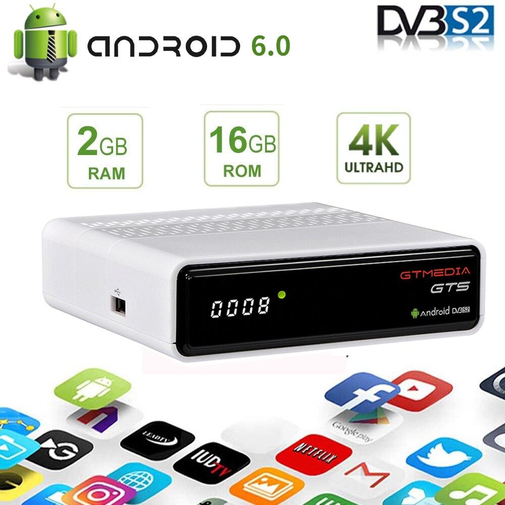 4K HD أندرويد الذكية صندوق التلفزيون GTMEDIA GTS/gtكومبو DVB-S2X/DVB-T2 استقبال الأقمار الصناعية H.265 موالف الأرضية/فك STB