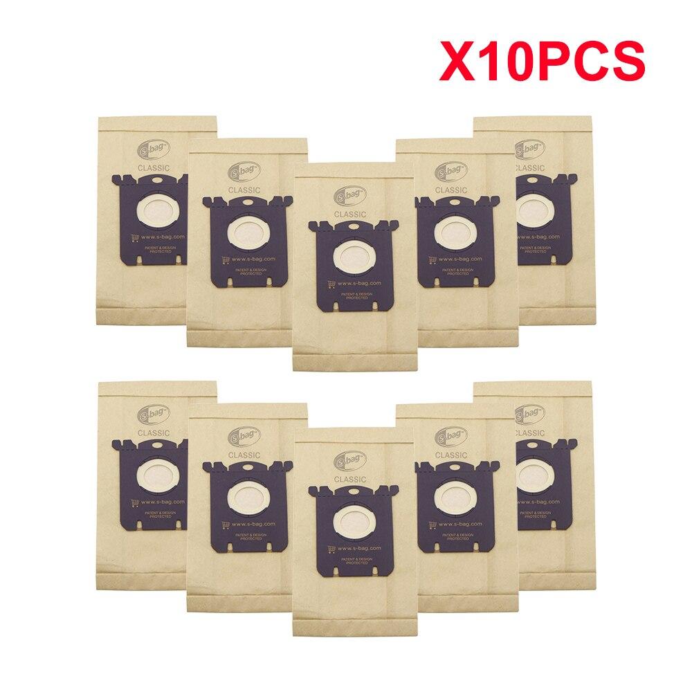 10 Pcs/Lot Dust Bag for Electrolux E201B for Philips FC8021 Dust S-Bag GR201 AEG Bags S-bag FC9000 FC9049 HR8500 HR8350 FC9150