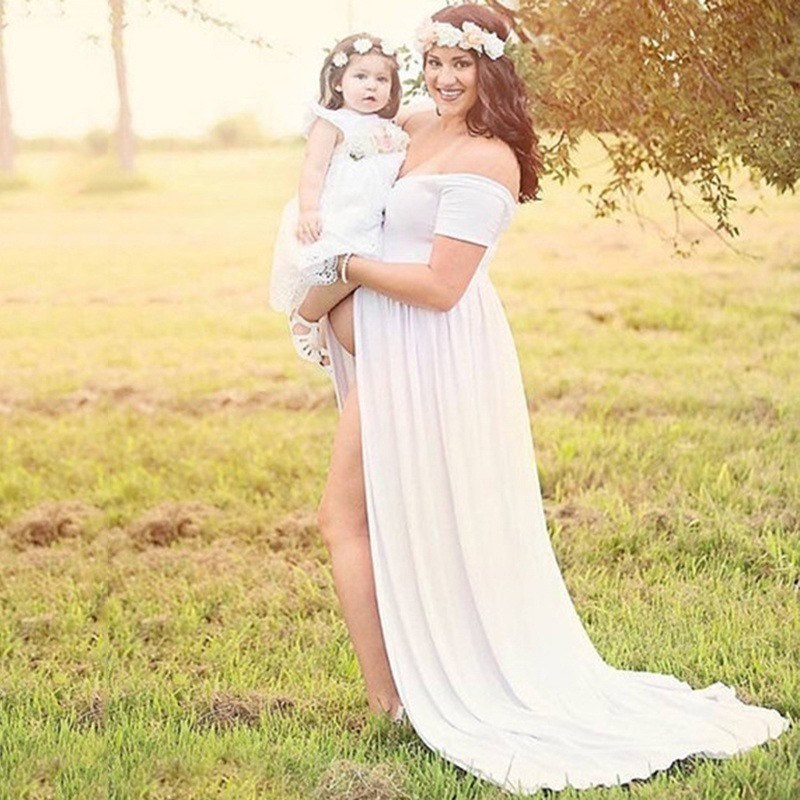 Maternity Photography Props Pregnancy Dress Photography Maternity Dresses For Photo Shoot Pregnant Dress V-neck Maxi Gown enlarge