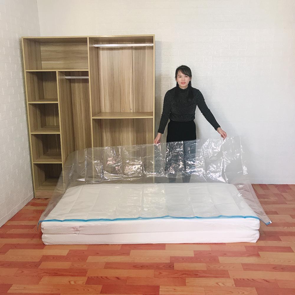 كبير فراغ تخزين ضغط حقيبة اللاتكس الإسفنج ملء طوي الحصير مريحة المراتب سرير قابل للطي حصير التعبئة حقيبة