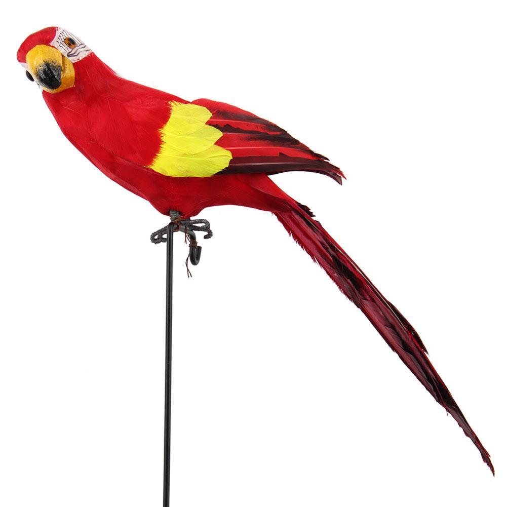 45cm imitación de espuma loro modelo pluma césped ornamento Animal decoración de jardín para pájaros