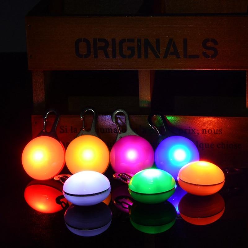 Collar LED de 6 colores para perro, colgante bonito de seguridad nocturna, colgante luminoso de luz nocturna, Collar con pedante, suministros para mascotas, accesorios para perros