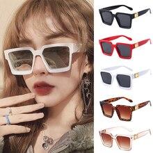 Classic Sunglasses Luxury Square Sun Glasses Brand Designer Shield Oversized Women Female Vintage Go