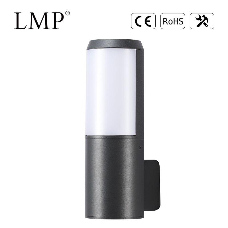 Luz LED de pared impermeable para exteriores, lámpara de jardín de iluminación...