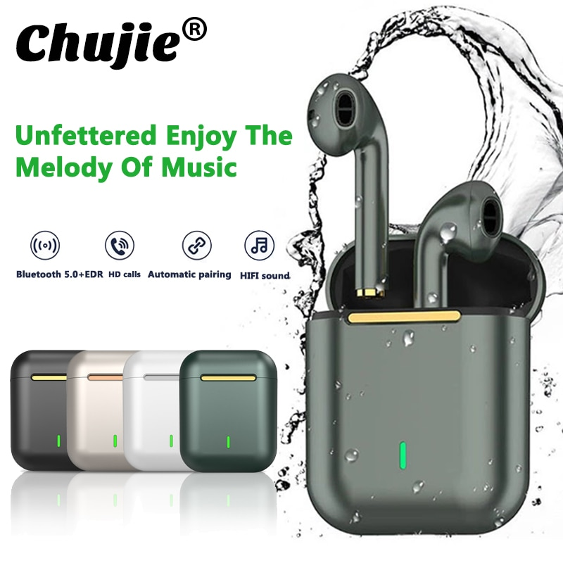 J18 TWS Bluetooth Headphones Music Earpiece Waterproof Touch Control Fidelity Sound For Iphone Huawe
