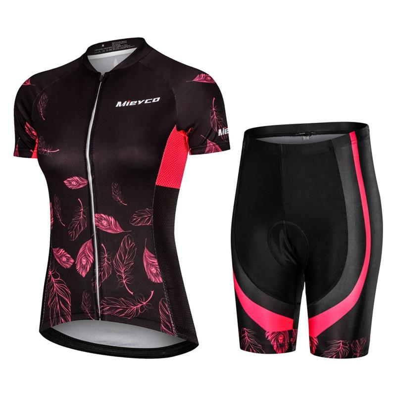 Roupa de Estrada Mieyco Verão Ciclismo Jérsei Fenimina Pro Kit Feminino Triathlon Terno Mtb Corrida Uniforme Vestir