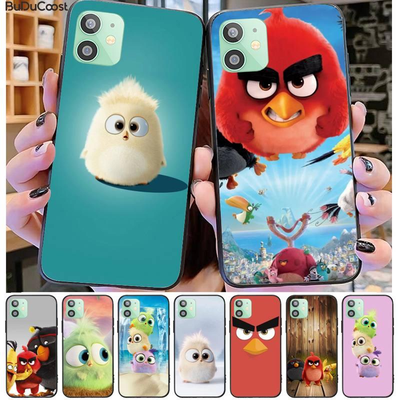 Mantrn de dibujos animados de aves enojado DIY funda de teléfono de lujo para iphone 11 Pro11 Pro Max X XS X XR XS MAX 8plus 7, 6splus 5s se 7 caso plus