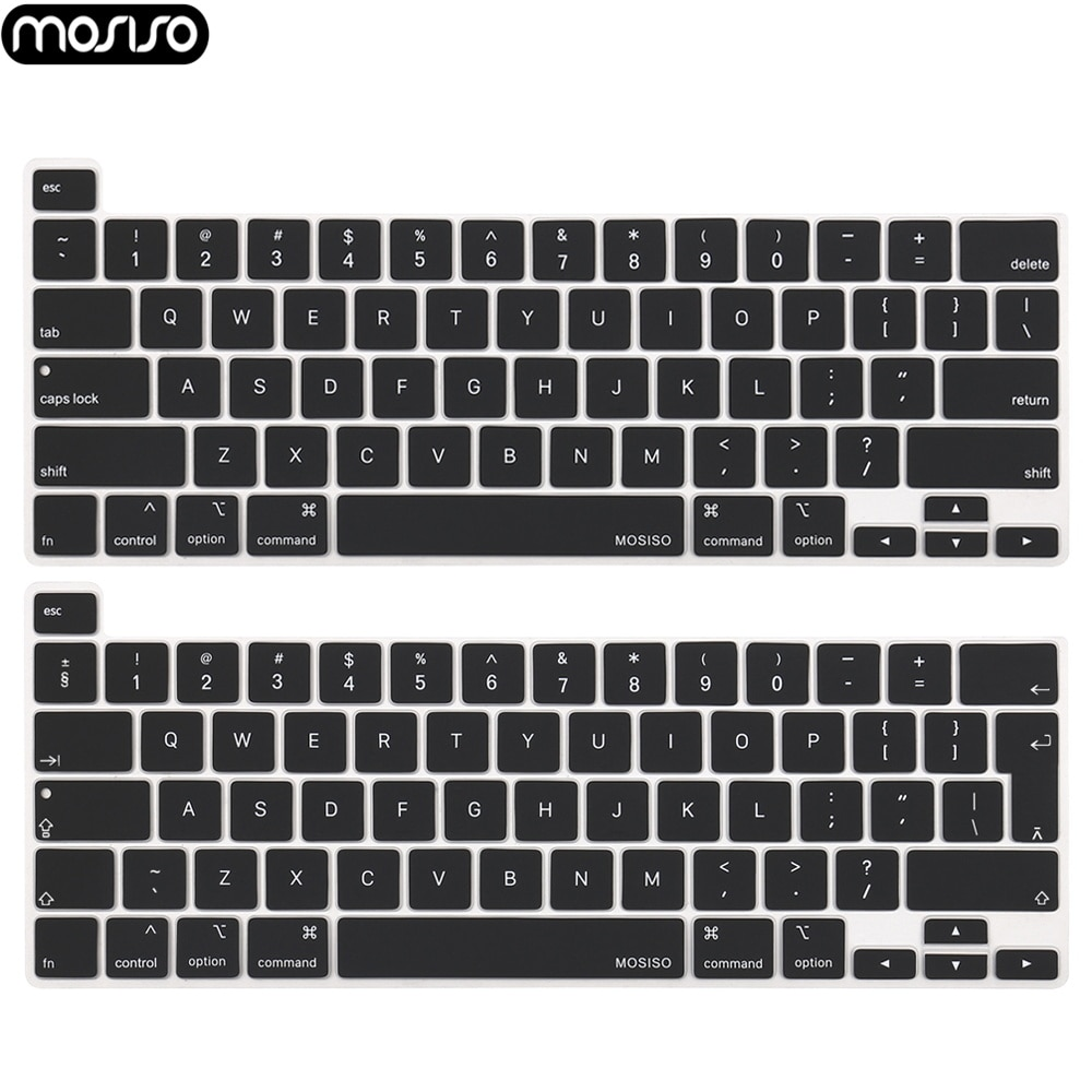 MOSISO Waterproof Silicone Keyboard Cover Protector For MacBook Pro 16 2019 A2141 with Touch Bar Anti-dust Black Protective Film