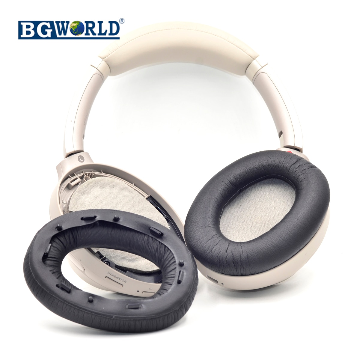 BGWORLD Proteína de cuero y espuma de memoria WH1000X M3 almohadillas de oreja para Sony WH1000X M3 Wireless auriculares inalámbricos