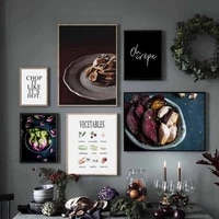 chocolate vegetables quotes wall art canvas painting nordic posters and prints wall pictures for living room restaurant