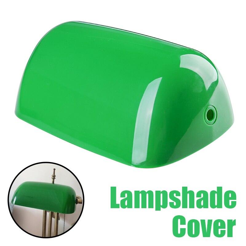 1 шт. винтажная пластиковая лампа банкира крышка Ретро зеленый банкир лампа оттенки настольная лампа замена 235 мм длина
