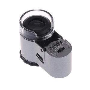 40X мини-подсветка микроскоп для ювелира Лупа Портативный Лупа с светодиодный