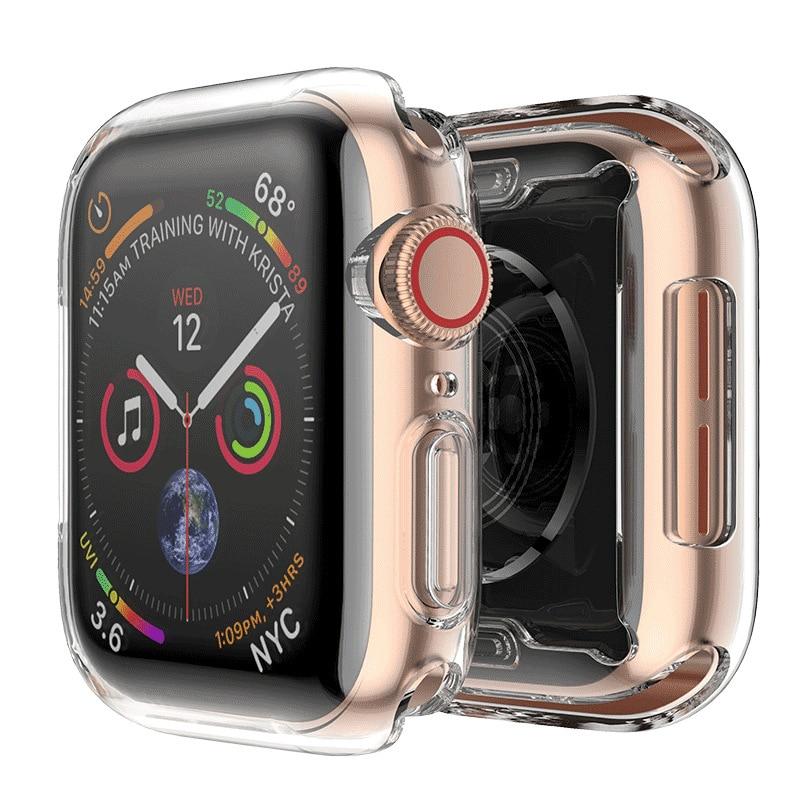 Protetor de Tela Caso para Apple Série Relógio 4 Laforuta 44mm 40mm Cobertura Completa TPU Claro Bumper Ultra- iWatch fino Shell