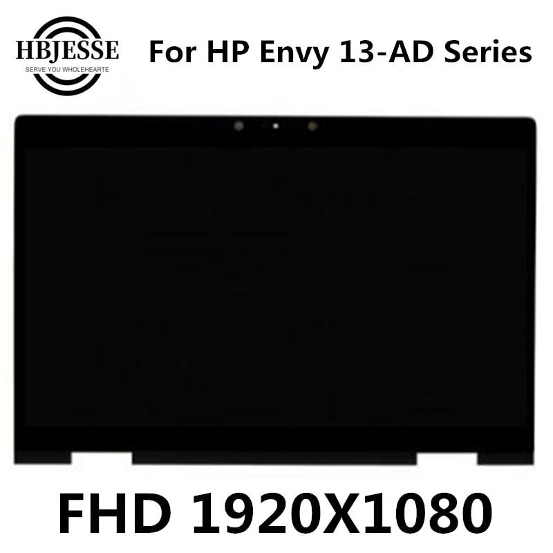 """13.3 """"não-montagem da tela de toque para hp envy 13-ad 13-ad010ns 13 ad010ns fhd 1920x1080"""