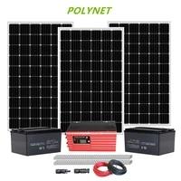 polynet 5 kw off grid solar home system 5000 watt solar pv system with batteries