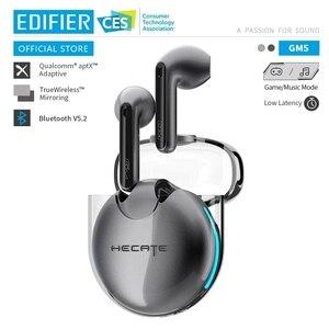 Игровые наушники EDIFIER GM5 tws, Qualcomm aptX Bluetooth V5.2 низкая задержка 40 часов увеличения времени воспроизведения, настоящие беспроводные игровые наушники