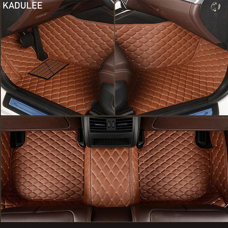 KADULEE-tapis de sol de voiture en cuir PU, intérieur de voiture personnalisé, intérieur de voiture, pour Volkswagen vw Touareg 2009-10-11-12-13-14-15-16-17