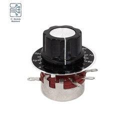 WTH118-1A 2w 470r 4.7k 470k 2.2k 22k 220k 1k 10k 100k ohm resistores variáveis única volta rotativa carbono filme atarraxamento potenciômetro