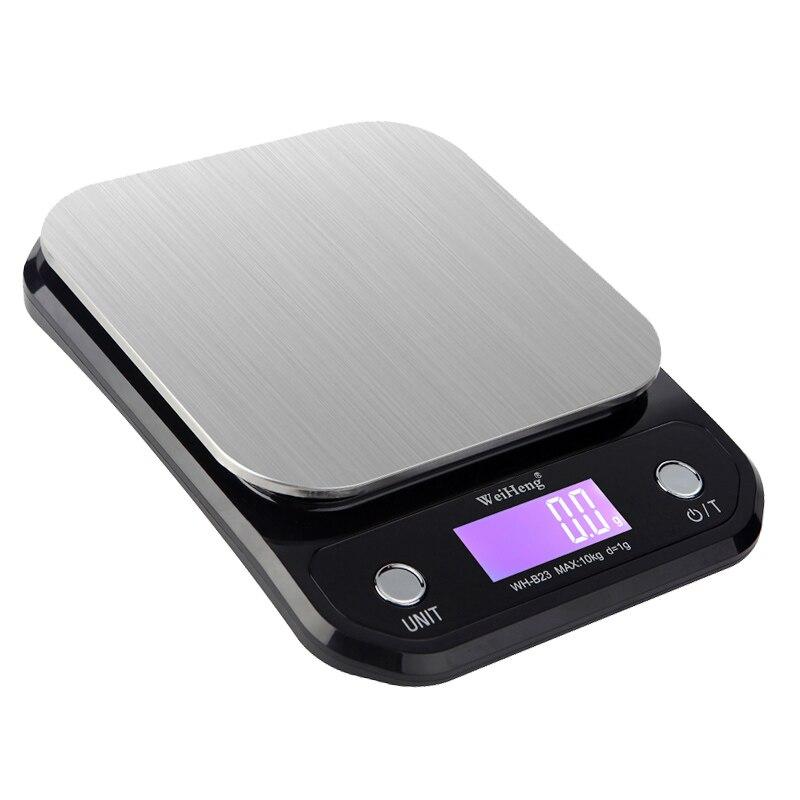مقياس المطبخ الرقمي ، موازين الطبخ الكهربائية غير القابل للصدأ 10 كجم/22lb موازين الوزن قسط مع شاشة الكريستال السائل للخبز الطبخ