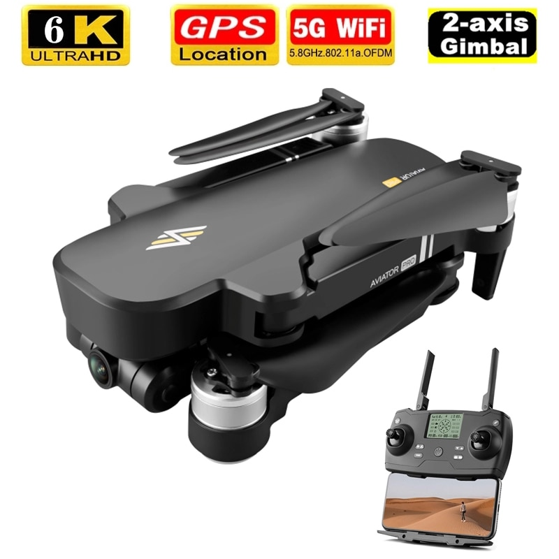 2020 NEW 8811 Pro Drone 6k HD Mechanical Gimbal Camera 5G Wifi Gps System Supports 32G TF Card Drones Distance 2km Flight 28 Min