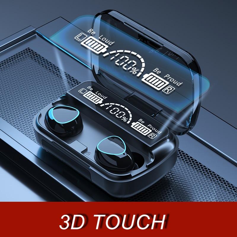 3500mAh TWS Bluetooth-compatible Wireless Headphone 9D Stereo Sports Wireless Earphones Waterproof Headsets with Microphone