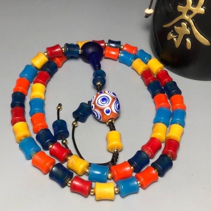 Viejo esmalte de color multi-tesoro collar mujer gargantilla joyería collares de mujer joyeria mujer bijoux mariage takı