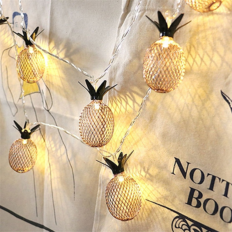 1M 1.5M 2M 3M LED String Lights Pineapple Lamp Christmas Holiday Party Garden Decoration Night Light