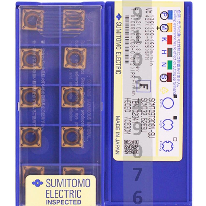 SCMT SCMT09T304N-SU AC630M/SCMT09T308N-SU AC630M SCMT32.51 SCMT32.52 CNC كربيد إدراج ل الفولاذ المقاوم للصدأ 10 قطعة/صندوق