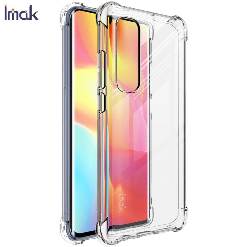 Mi Nota 10 Lite cristal IMAK 360 protección a prueba de golpes a prueba, Funda para Xiaomi Mi nota 10 Lite caso Mi Note10 Lite cubierta Funda