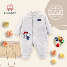 BABY BODYSUIT baby spring and autumn warm crawling clothes open file outdoor clothing cut Plush