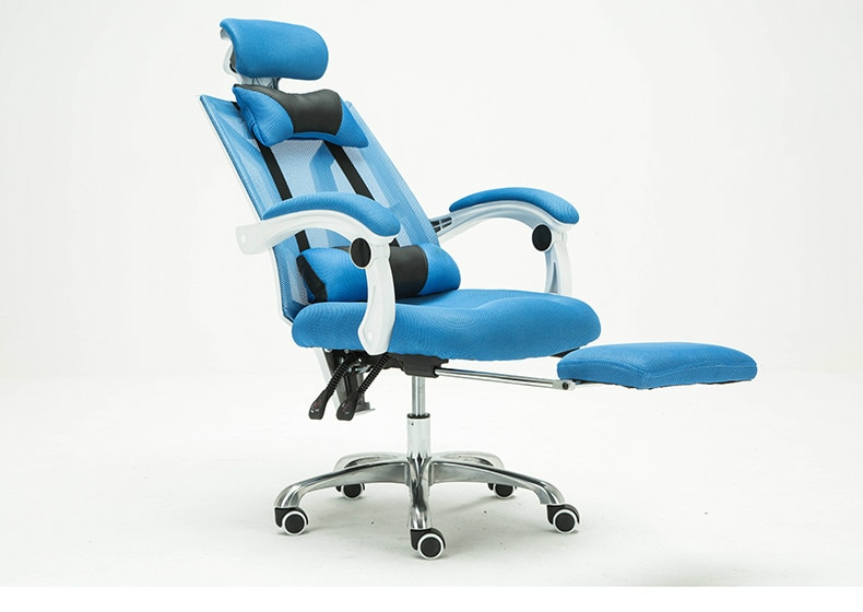 homall ribbed office chair mid back pu leather executive conference desk chair adjustable swivel chair with comfortable arms Executive Office Chair Conference Reclining Swivel Computer Chair Lying Lifting Adjustable bureaustoel ergonomisch Mesh Chair