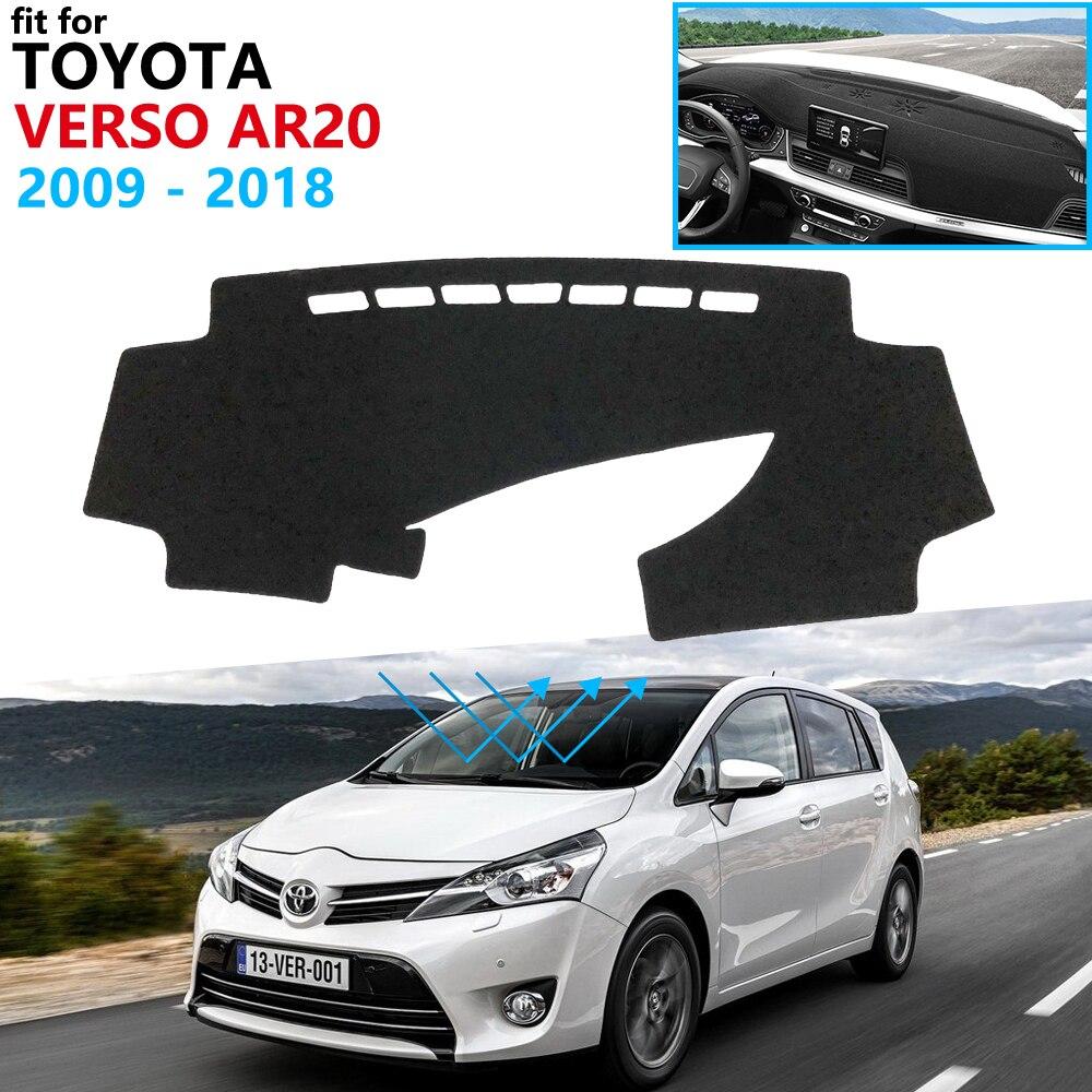 Cubierta de tablero, almohadilla protectora para Toyota Verso 2009 ~ 2018 AR20 SportsVan, accesorios de coche, tablero de tablero, Alfombra de sombrilla 2010 2017