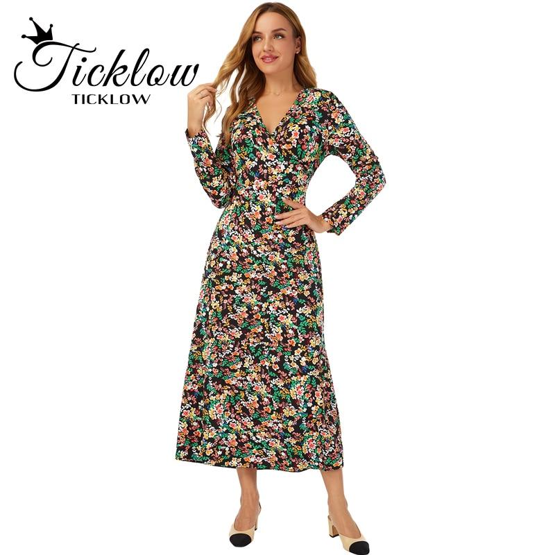 2021 New Fashion Ladies Floral Print Pattern Contrast Color Irregular Hem Open Back Bow Dress New And Ground Skirt Green Print girls bow detail cherry print dip hem dress