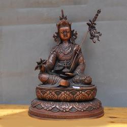 """Decoração de casamento 14 """"antigo budismo tibetano assento bronze guru rinpoche padmasambhava estátua de buda"""