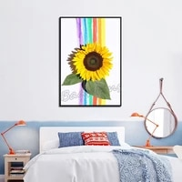 one piece canvas painting chrysanthemum poster european style frameless waterproof ink painting modern flower room decoration