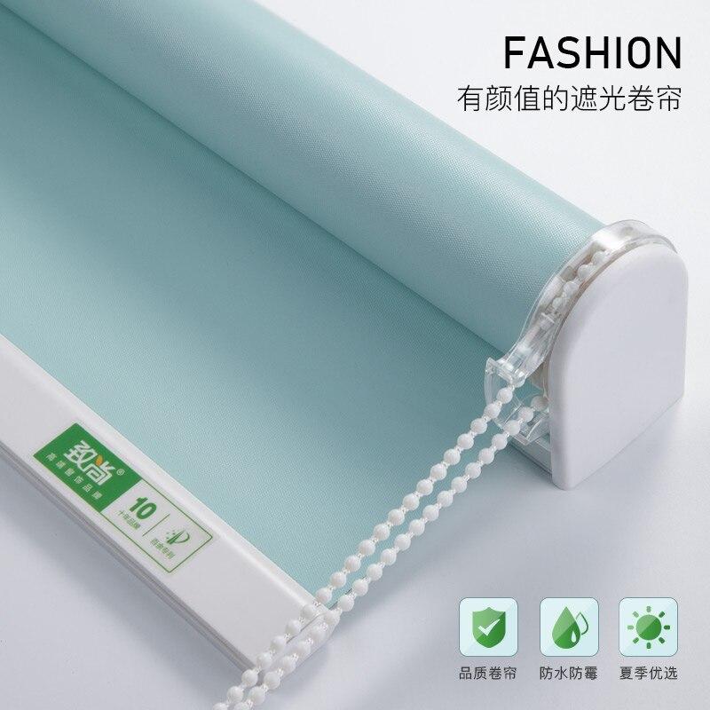 Sistema de taladro para cortinas, persianas enrollables, opacas, resistentes al agua, sólidas, para dormitorio, cocina y oficina, tamaño personalizado
