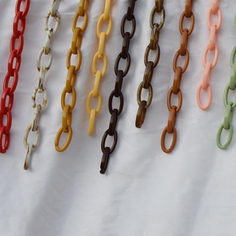¡Producto en oferta! Correa para bolso de resina de colores, diseño transparente, elegante bolso bandolera, fácil de combinar