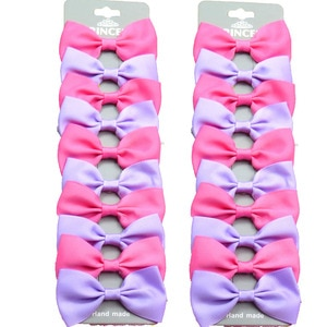 20PCS/Lot  Purple and Dark Pink With Hairpins Grosgrain Ribbon Bows Clips 2020 Korean Creativity Hair Accessories For Baby Girls