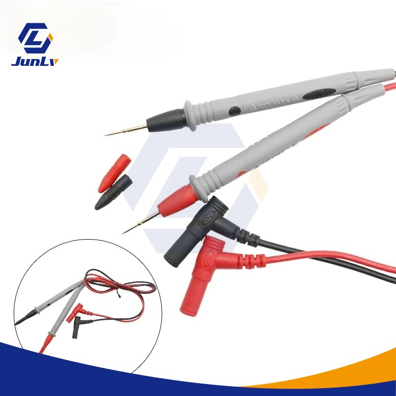 Universal Probe Test Leads Pin, 1 Pair, for Digital Multimeter, Needle Tip, Multimeter, Tester, 20A Pen Cable недорого