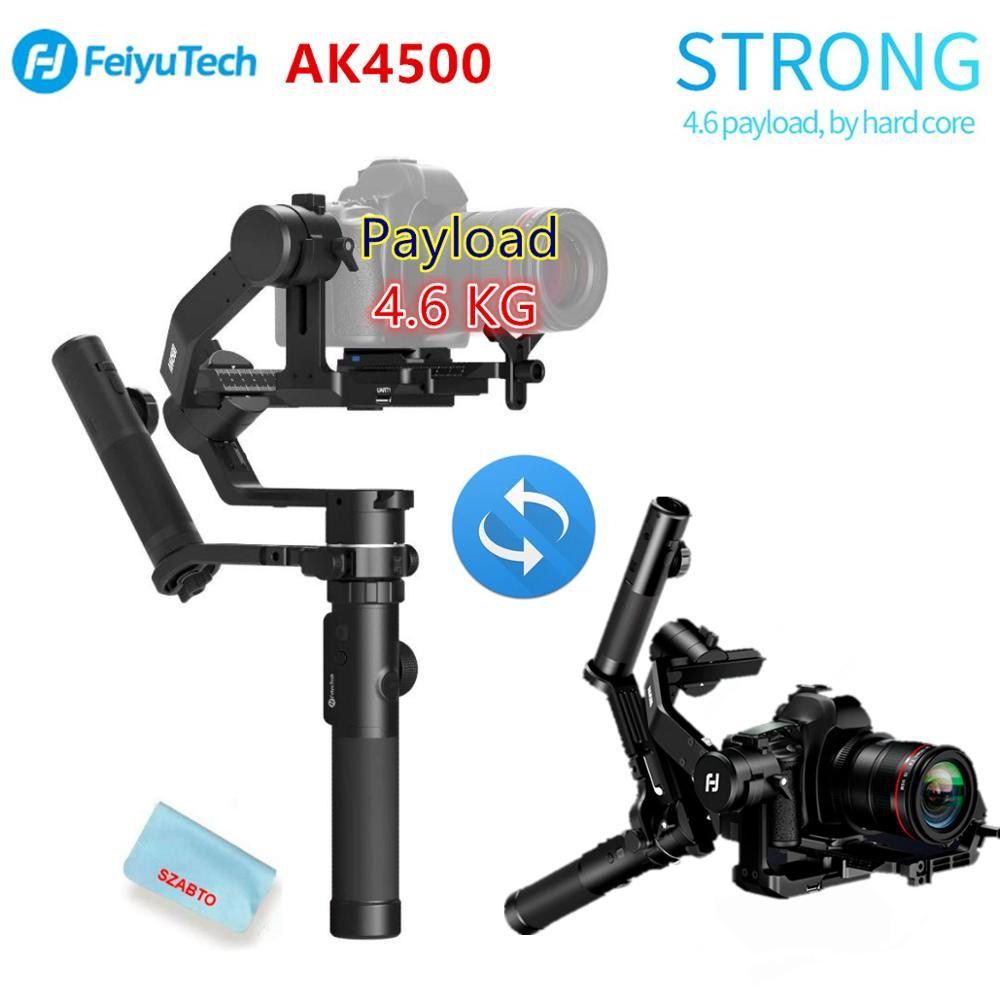 FeiyuTech AK4500 3-المحور يده Gimbal DSLR مثبت كاميرا كيت القطب ترايبود لسوني/باناسونيك/كانون مع البعيد اتبع Fcous