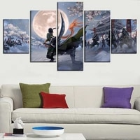 5 piece canvas wall art anime poster hd prints painting home decor framework wall picture for living room bedroom decoration