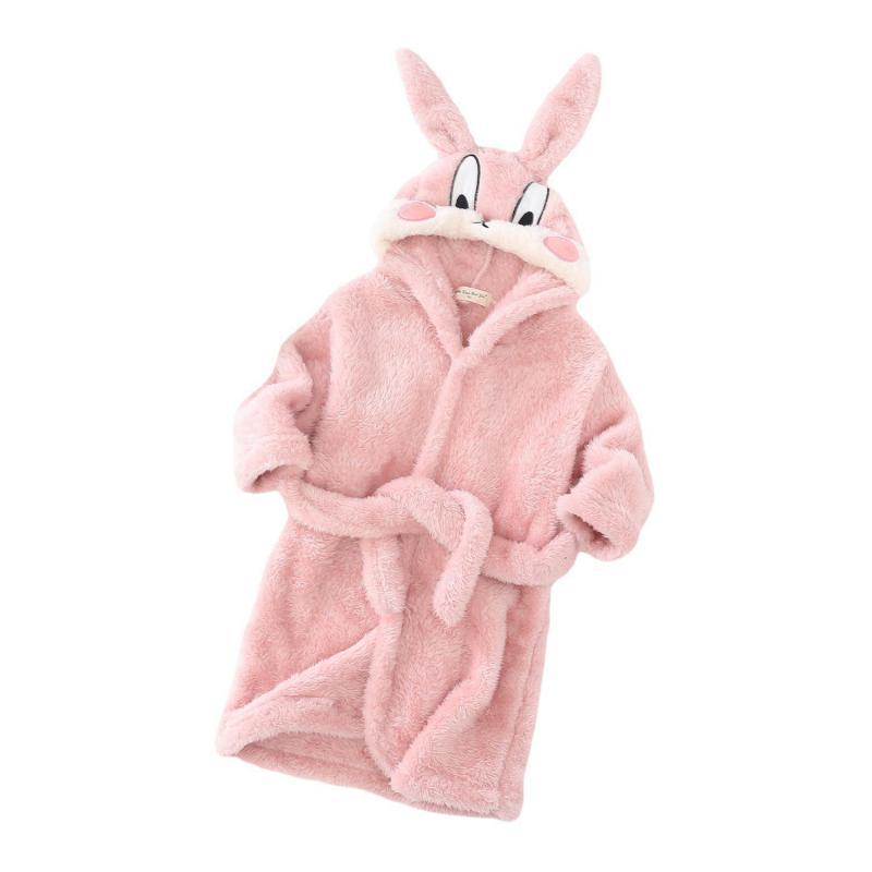 Зимние-пижамы-халат-для-девочек-детские-зимние-фланелевые-халаты-с-капюшоном-для-мальчиков-розовый-халат-в-виде-кролика-хлопковый-Халат