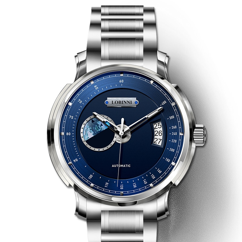LOBINNI-ساعة ميكانيكية للرجال ، حركة Seagull ، أفضل العلامات التجارية الفاخرة ، الفولاذ المقاوم للصدأ ، relogio masculino ، Tachymeter ، الرياضة ، 2020