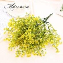 1 Bouquet de fleurs artificielles souffle de bébé   Bricolage, Gypsophila, fausse plante en Silicone pour décoration de mariage à domicile, mantianxing