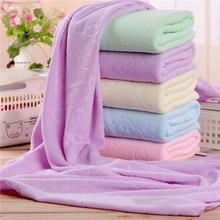 Solid Color Microfiber Quick-dry Towel Bear Cartoon Bath Towels Cotton Soft Dry Towels Kitchen Clean Absorbent Towels 70X140CM